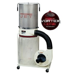 Jet DC-1100VX-CK Dust Collector, 1.5HP 1PH 115/230V, 2-Micron Canister Kit 708659K