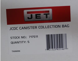 Jet Clear Plastic Bag for JET Cyclone Canister (5Pack) (all models) 717511 717511