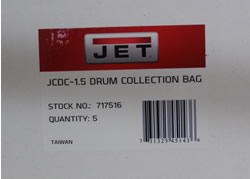 Jet Clear Plastic Drum Collection Bag for JCDC-1.5 (5 Pack) 717516 717516