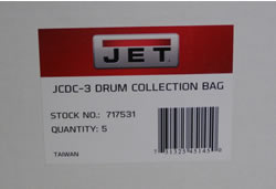 Jet Clear Plastic Drum Collection Bag for JCDC-3(5 Pack) 717531 717531