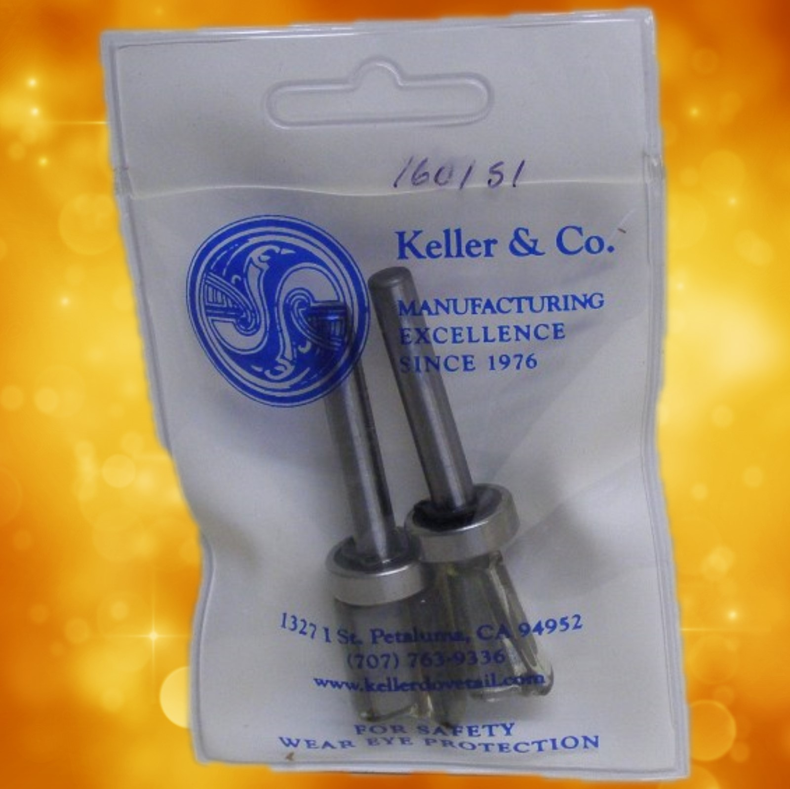 Keller Dovetail Jig Router Bit Set 135-1695 Replacement router bits for model 1601