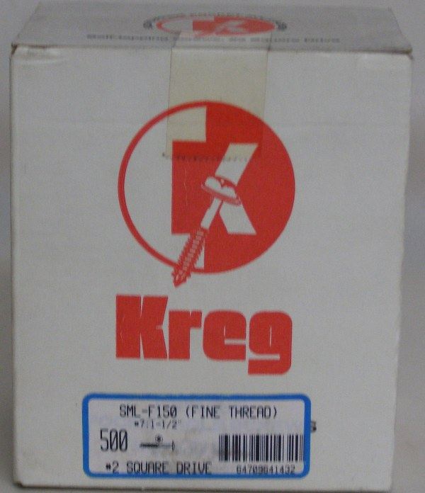 "Kreg 1-1/2"" #7, Self-Tapping, Fine-Thread, Washer Head, 500 count SML-F150-500"