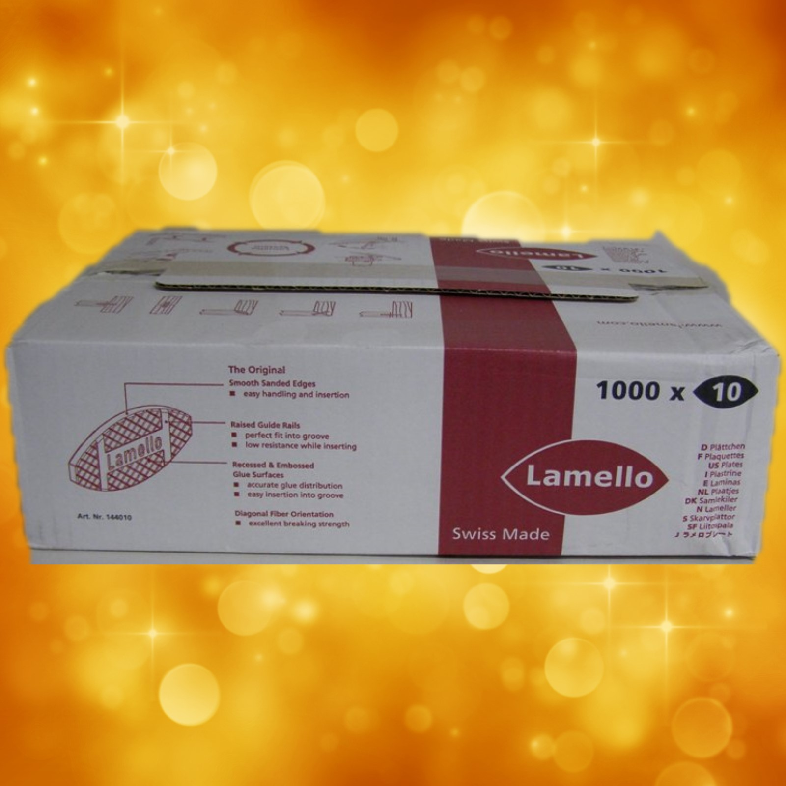 Lamello 144010 # 10 Biscuits (53 x 19 x 4 mm) Box of 1000