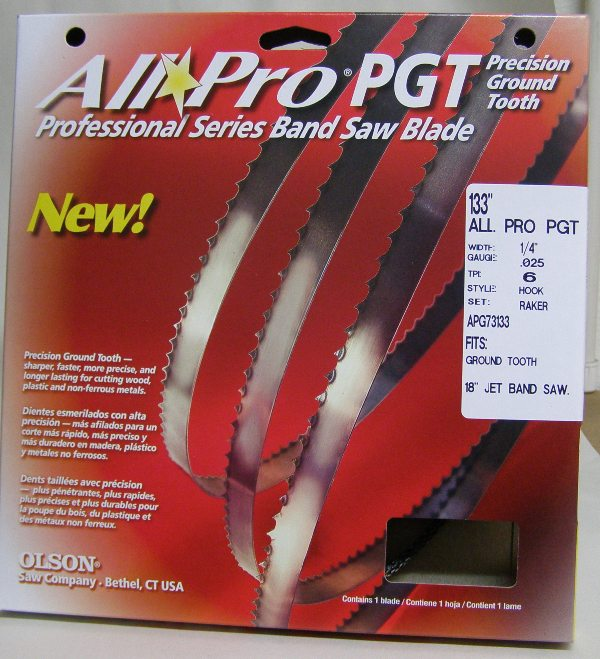 "Olson All Pro Band Saw Blade AP7313 133"" x 1/4"" x .025"" 6 TPI Style Regular"