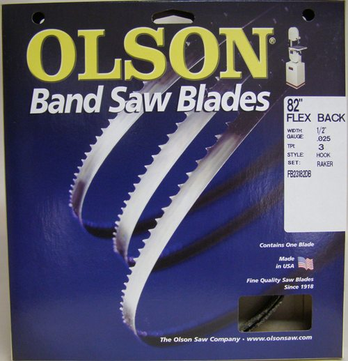 Olson FB23182DB  82 x 1/2 x 3 Hook Band Saw Blde FB23182DB