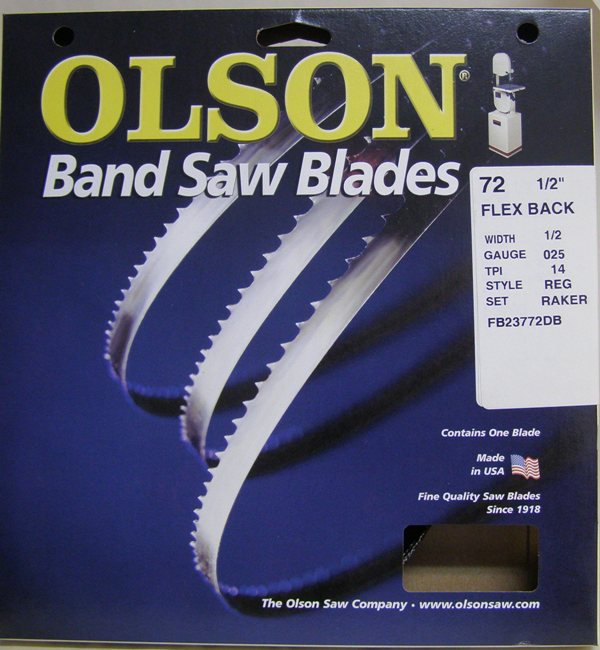 "Olson 72-1/2 Band Saw Blade 1/2"" x14TPI Style Reg FB5002514R72"