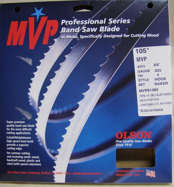 "Olson 105"" MVP Band Saw Blade 3/8"" 4TPI  MVP81405"