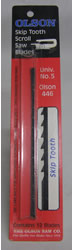 Olson Scroll Saw Blade 446 Skip Tooth Univ No 5 (12 Pack) 446