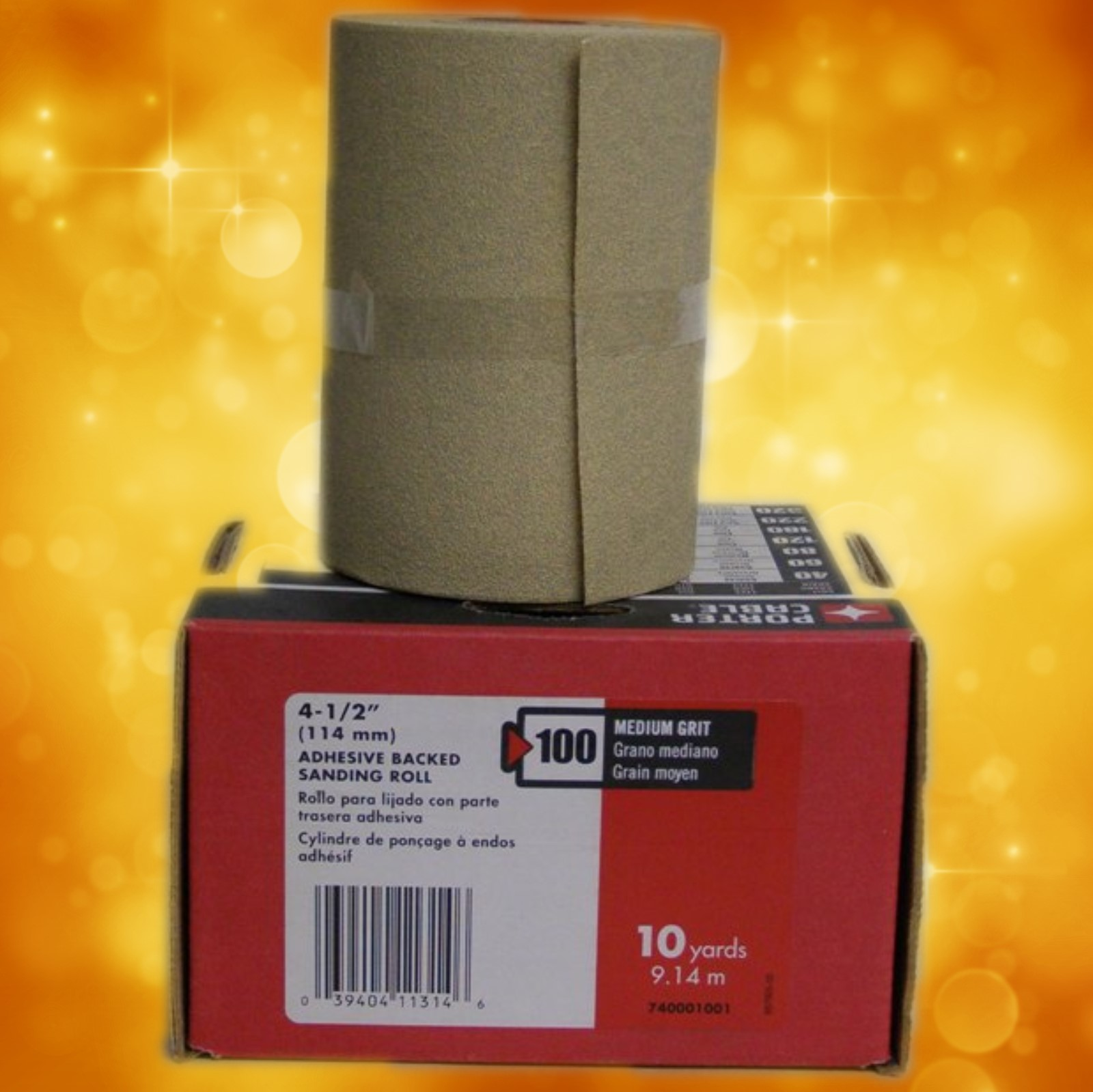 "Porter-Cable 4-1/2"" x 10 Yard, Adhesive-Backed Sanding Roll - 100 Grit 740001001"