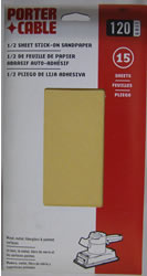 Porter-Cable 1/2 Sheet, Adhesive-Backed Sanding Sheets - 120 Grit 53010