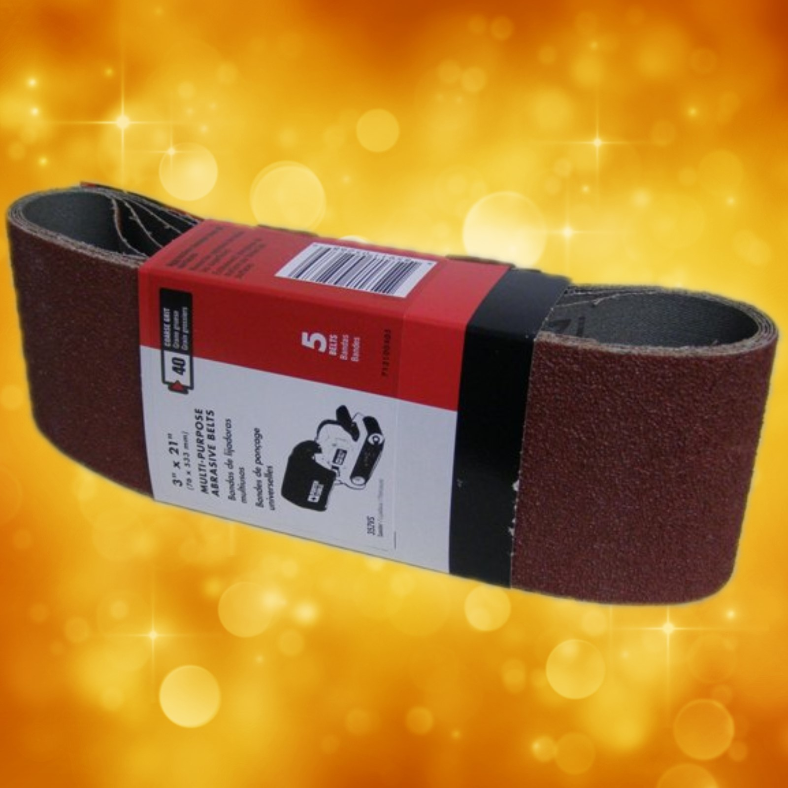 "Porter-Cable 3"" x 21"" Multi-Purpose Sanding Belt - 40 Grit 711000404"