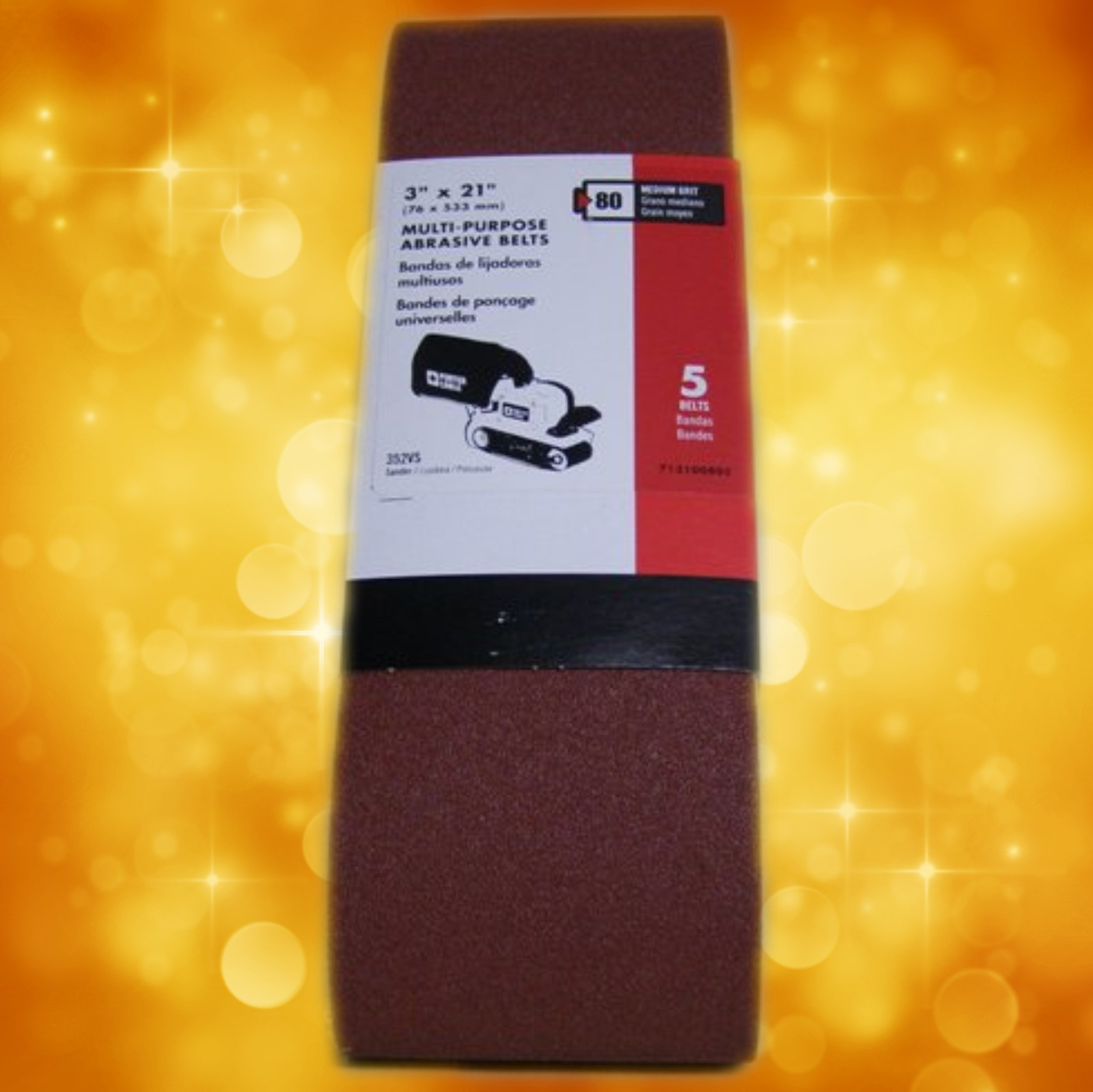 "Porter-Cable 3"" x 21"" Multi-Purpose Sanding Belt - 80 Grit 711000805"