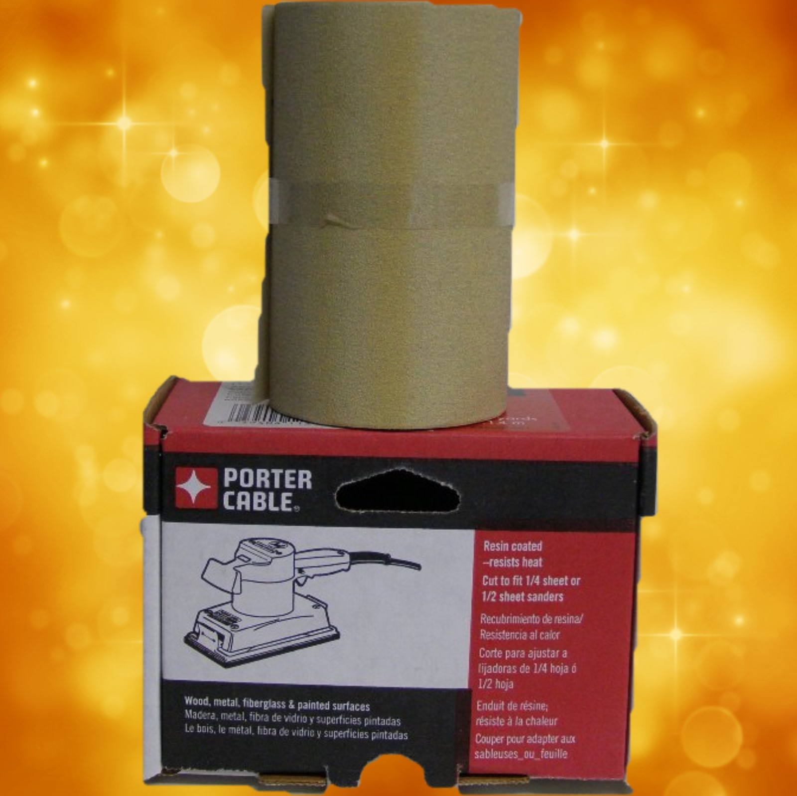 "Porter-Cable 4-1/2"" x 10 Yard, Adhesive-Backed Sanding Roll - 150 Grit 740001501"