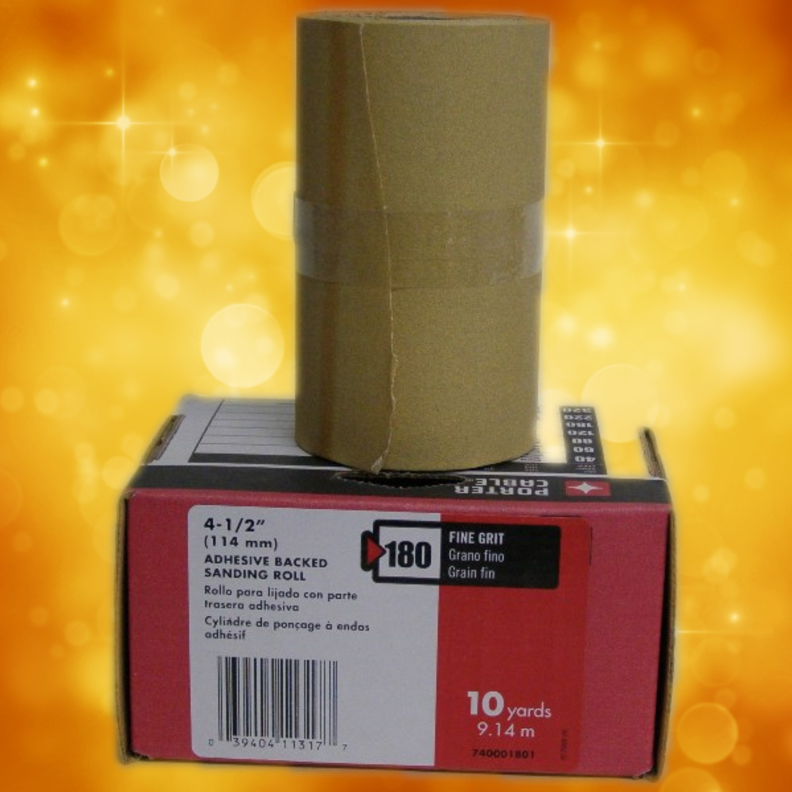 "Porter-Cable 4-1/2"" x 10 Yard, Adhesive-Backed Sanding Roll - 180 Grit 740001801"