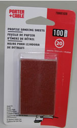 Porter-Cable Adhesive-Backed Profile Sanding Sheets - 100 Grit 758001020