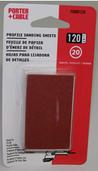 Porter-Cable Adhesive-Backed Profile Sanding Sheets - 120 Grit 758001220