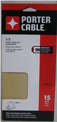 Porter Cable 1/2 Sheet, Adhesive-Backed Sanding Sheets - 100 Grit