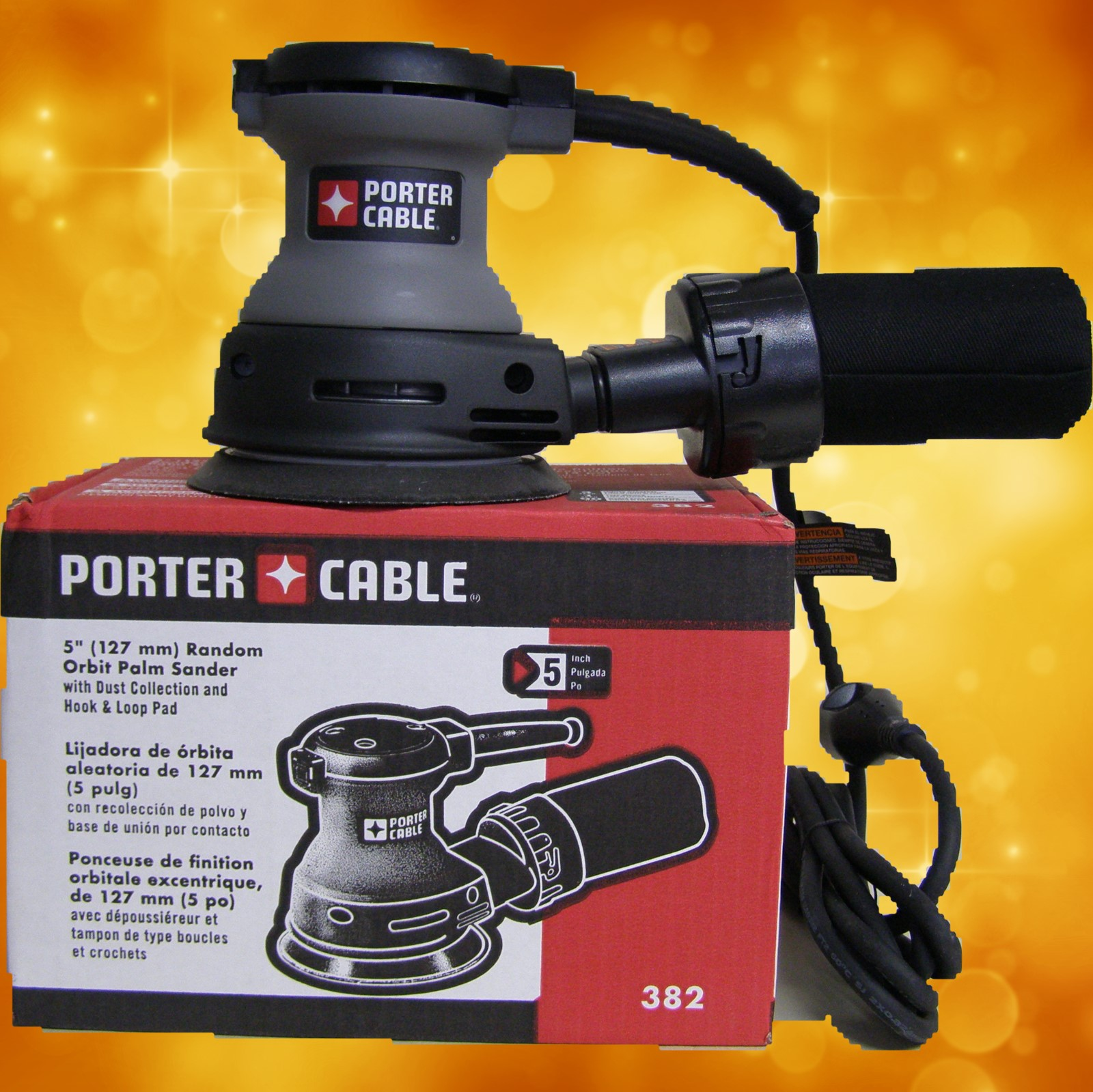 "Porter Cable 5"" Random Orbit Palm Sander 382"