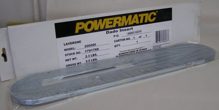 Powermatic Dado Table Saw Insert for PM2000