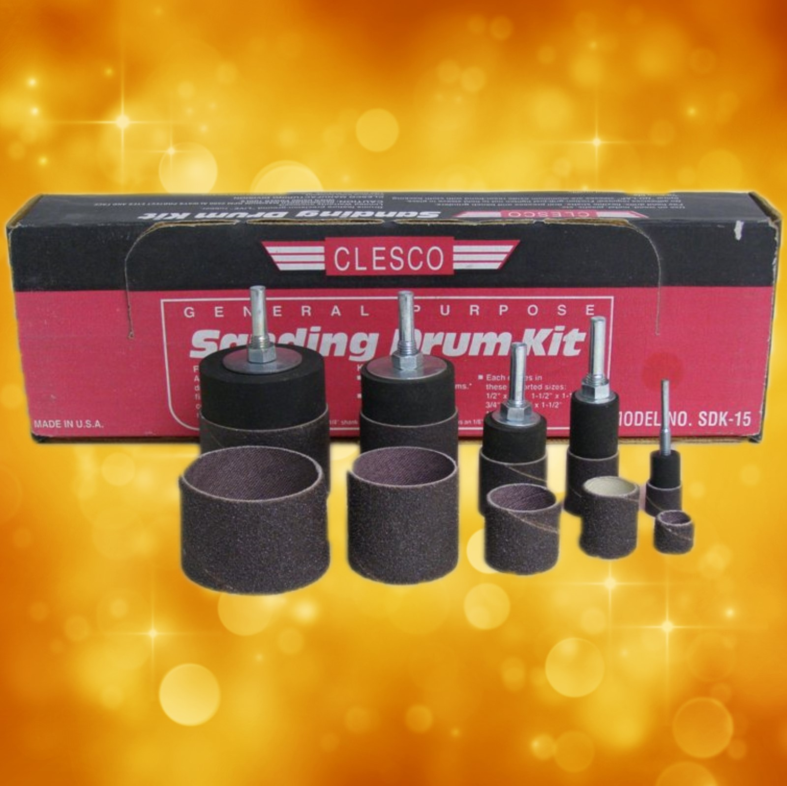 Clesco Sanding Drum Kit 210-0900 210-0900