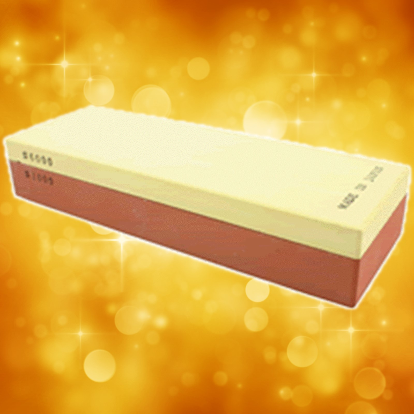 "Suehiro Japanese Wet Stone 1000/6000 Grit Double Sided Size: 8-1/4"" x 2-3/4"" x 1-3/8"" 705-2000"