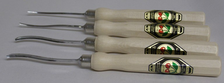 Two Cherries Set of 4 Micro Carving Chisels 512-5404