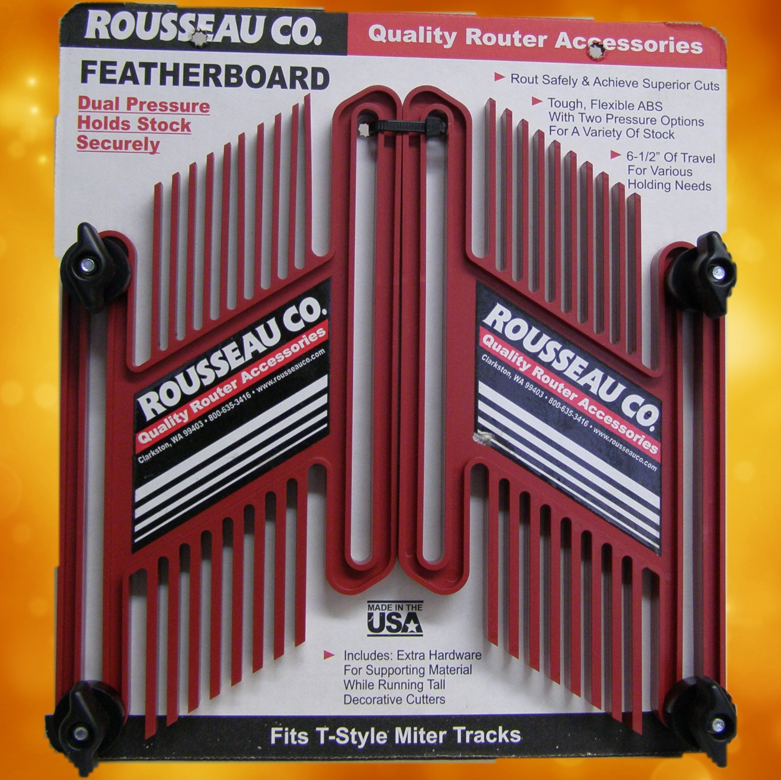 Rousseau Featherboard  Dual Pack 3301-10