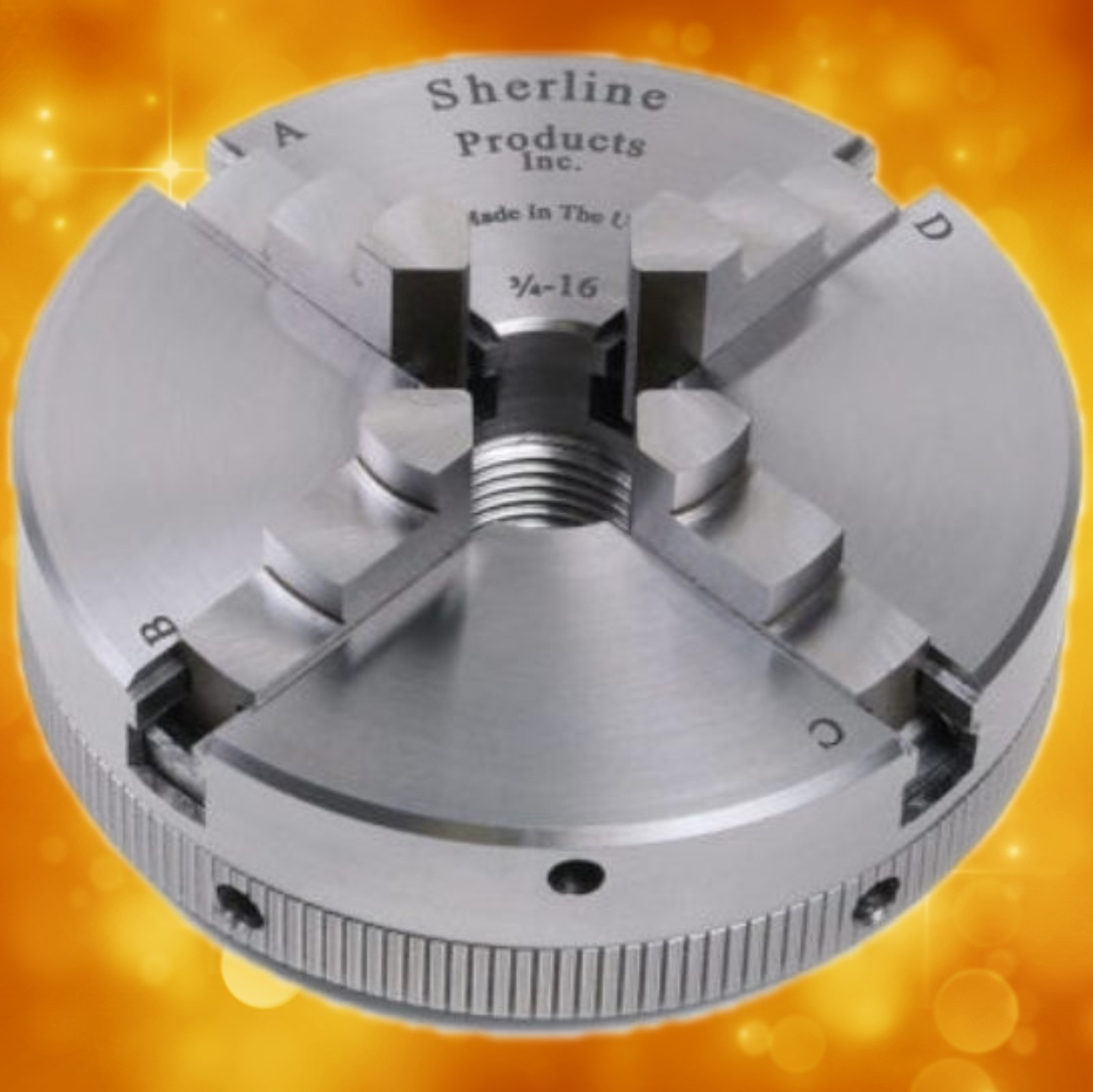 "Sherline 2.5"" Self-Centering 4-Jaw Chuck 1075"