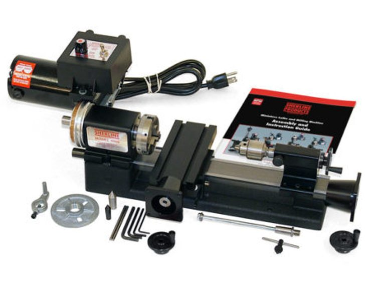 "Sherline 4100A-CNC Lathe 3.5"" x 8"" lathe Plus-A Package, CNC Ready (Metric) 4100A-CNC"