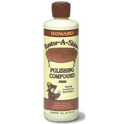 Howard's New Restor-A-Shine Polishing Compound Fine  PC0016 Howard's New Restor-A-Shine Polishing Compound Fine PC0016 Howard's New Restor-A-Shine Polishing Compound Fine  16oz. (1 Pint)  PC0016