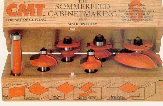 CMT Cabinet Making Router Bit Set 800.515.11 - Mike's Tools