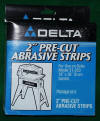 "Delta 2"" Pre-Cut Abrasive Strips 80 Grit Pack of 4  31-817"