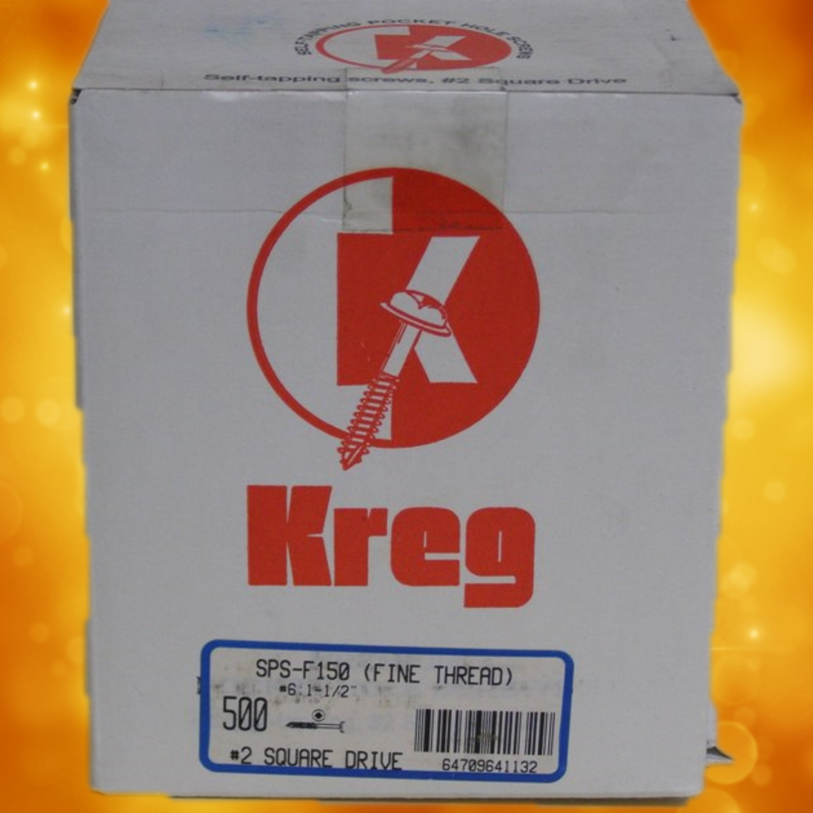 "Kreg Pocket Hole Screws SPS-F150-500 Kreg 1-1/2"" #7, Self-Tapping, Fine-Thread, Pan Head, 500 count SPS-F150-500"