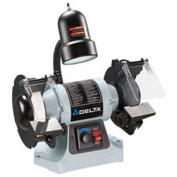 "Delta 6"" Variable Speed Bench Grinder With Tool-Less Quick Change GR275"