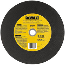 "DeWalt Chop Saw Wheel DW8004 DeWalt 12"" General Purpose Chop Saw Wheel DW8004"