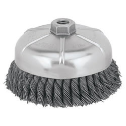 "DeWalt Wire Brush DW4917 DeWalt 6"" Knotted Cup Brush - 5/8""-11 Arbor DW4917"