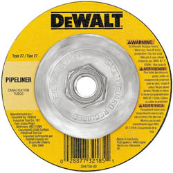 "DeWalt 4-1/2"" Pipeline Cutting Wheel - 5/8""-11 Arbor DW8435"