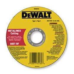 "DeWalt 4-1/2"" Metal Thin Cutting Wheel - .045"" Thick - 7/8"" Arbor - 60 Grit - Type 1 Wheel DW8062"