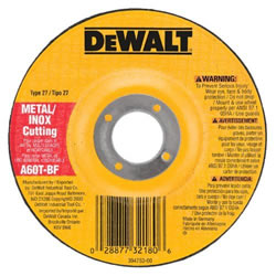 "DeWalt 4-1/2"" Metal Thin Cutting Wheel - .045"" Thick - 7/8"" Arbor - Type 27 WheelDW8424 Z"