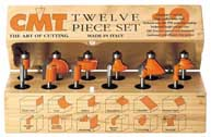"CMT 12-Piece Router Bit Assortment, 1/4"" shank 800.503.11"