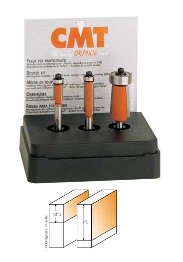 Cmt 3 Piece Flush Trim Router Bit Set 1 4 Quot Shank Mike S