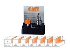 "CMT Rabbeting Router Bit Set  1/2"" cutting length 1/4"" shank"