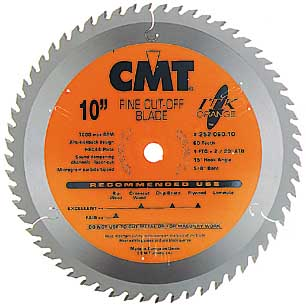 "CMT ITK Fine Cut Off Blade, 10"" diameter 252.060.10"