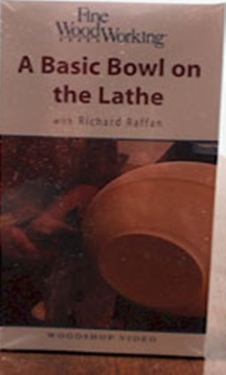 Wood Lathe Turning Video A Basic Bowl on the Lathe with Richard Raffan (VHS) 014002 A Basic Bowl on the Lathe with Richard Raffan (VHS)  014002
