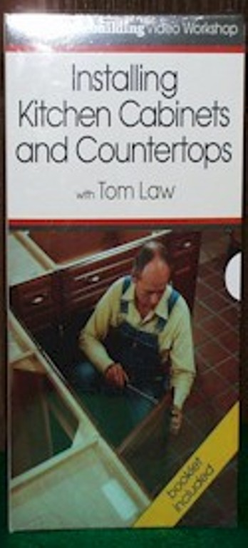 Installing Kitchen Cabinets and Countertops with Tom Law (VHS) 060061